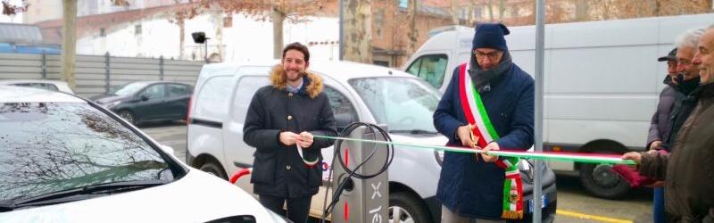 Acqui Terme, inaugurata la prima colonnina di ricarica EnelX